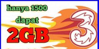 Paket Internet 2GB hanya 1500