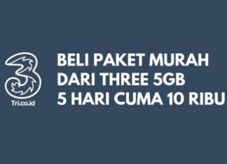 Paket Internet 3 Tri 5GB 5ribu