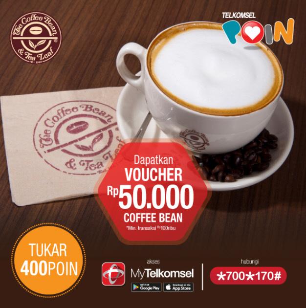 Telkomsel Poin Voucher Coffee Bean 50 ribu